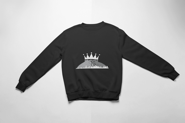 Let's Build Together Sweatshirt -White Crown