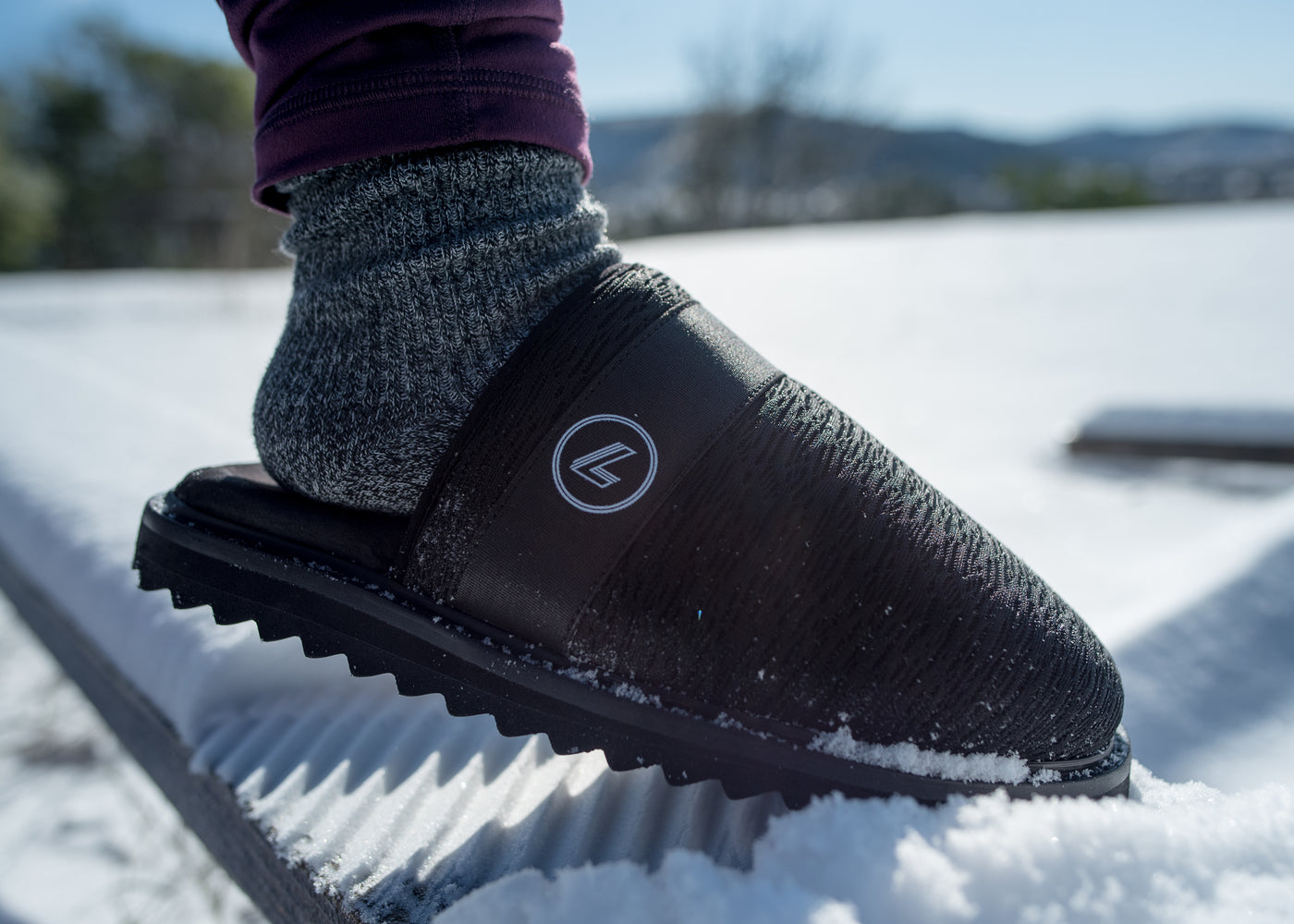 The LeanZ all-season, breathable recovery slide and slipper.
