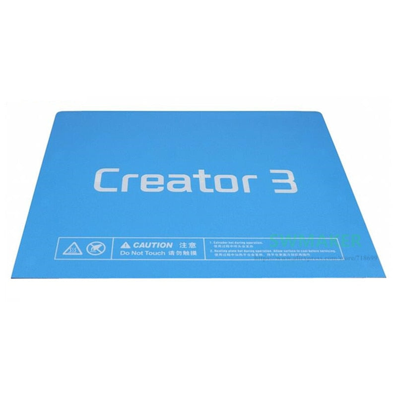 Creator 3 Printing Surface - Build Plate Sticker
