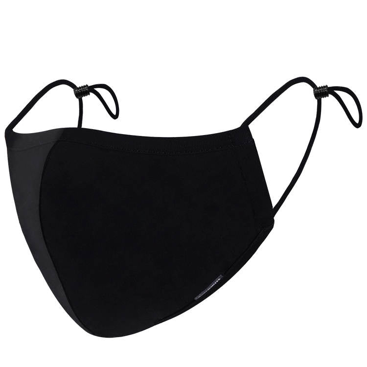 Black Cotton Face Masks - Adjustable & Washable