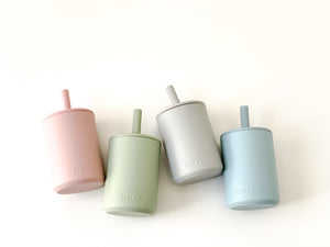 Grey Silicone Sippy Cup