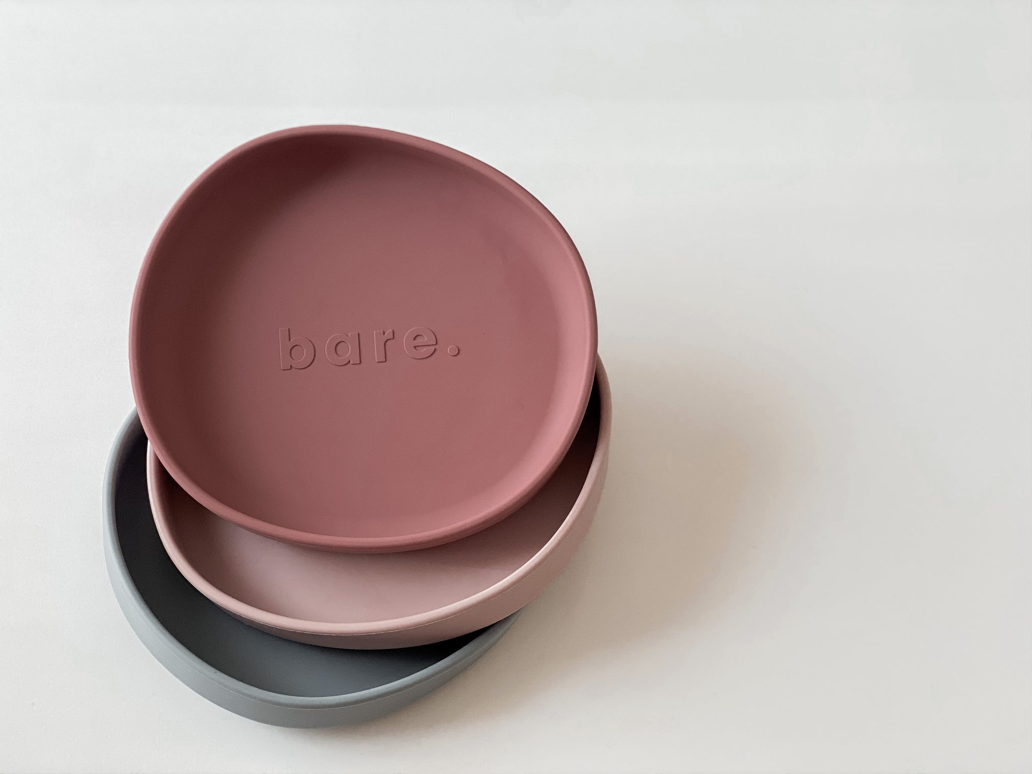 Dusty Rose Irregular Suction Plate