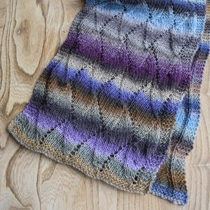 Wave pattern scarf kit Mille colori yarn