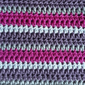 Simple striped cushion cover crochet kit