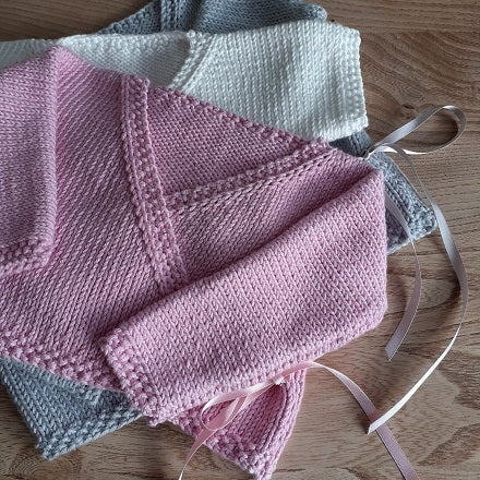 Ballerina wrap - sizes premature to 24 months Knitting kit
