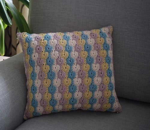 Catherine wheel stitch cushion cover pattern pdf only
