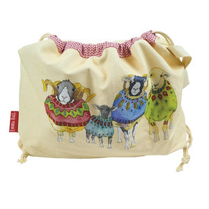 Emma Ball Sheep in Sweaters Drawstring Bag