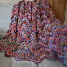 Load image into Gallery viewer, Chevron Granny Stitch Crochet blanket kit