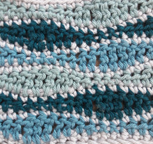 Load image into Gallery viewer, Wave stitch cushion cover crochet kit Teals
