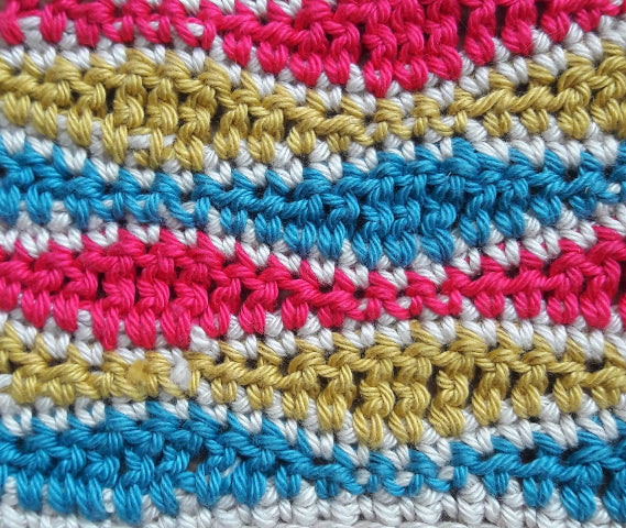 Wave stitch cushion cover crochet kit - colourway Deep Pink