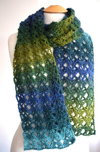 Crochet motif scarf kit