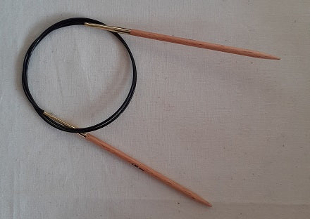 Circular knitting needles with birch wood tipe