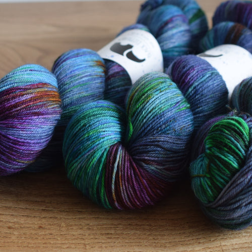Black Elephant Hand Dyed Sock Yarn