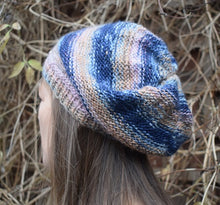 Load image into Gallery viewer, Knitted beret knitting kit contains yarn and pattern Knit One Kits
