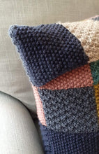 Load image into Gallery viewer, Knitted patchwork cushion cover kit
