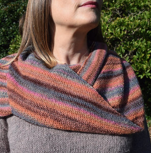 Knit One Kits moss stitch shawl knitting kit