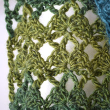 Load image into Gallery viewer, Crochet motif scarf kit