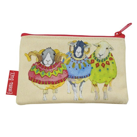 Emma Ball Sheep in Sweaters coin purse