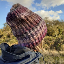 Load image into Gallery viewer, Ribbed hat knitting kit