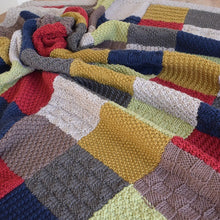 Load image into Gallery viewer, Patchwork blanket knitting pattern - pdf