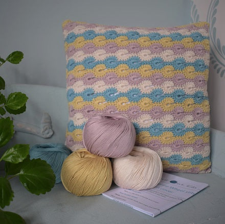 Crochet cushion cover kit
