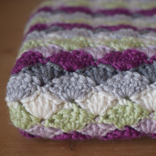 Load image into Gallery viewer, Shell stitch baby blanket - crocheting kit