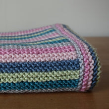 Load image into Gallery viewer, Striped baby blanket kit - knitting kit