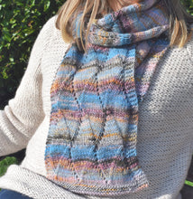 Load image into Gallery viewer, knit one kits wave stitch detail scarf knitting kit
