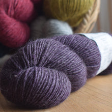 Load image into Gallery viewer, Knit One kits finger less mitts knitting kits Erika Knight Wild Wool Damson