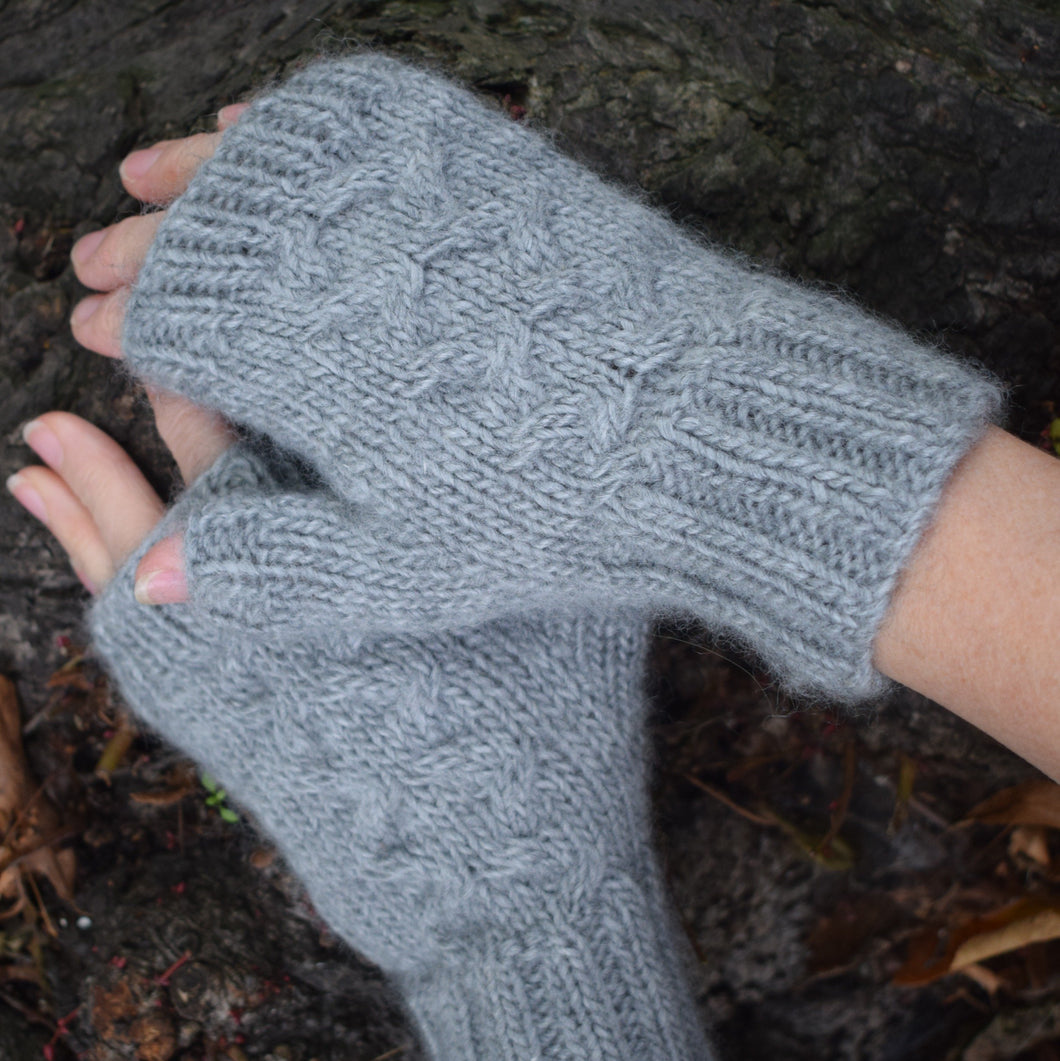 Knit One kits finger less mitts knitting kits Erika Knight Wild Wool colour Amble