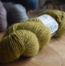 Load image into Gallery viewer, Knit One kits finger less mitts knitting kits Erika Knight Wild Wool colour Pootle