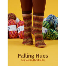 Load image into Gallery viewer, Winwick_mum_Seasons_sock_knitting_book_falling_hues