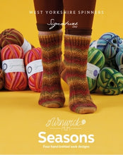 Load image into Gallery viewer, Sock Yarn - Winwick Mum Seasons pattern book with 4 new designs