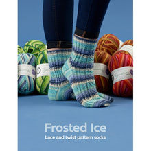 Load image into Gallery viewer, Winwick_mum_Seasons_sock_knitting_book_frosted_ice