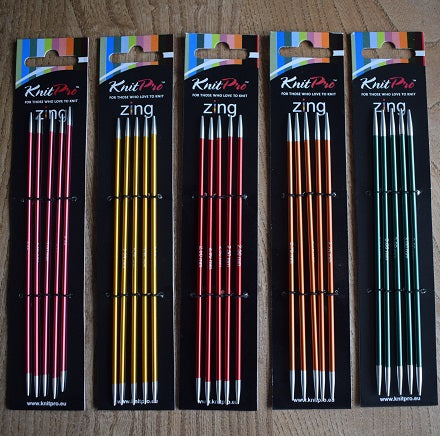 Knit Pro Zing double pointed knitting needles DPNs