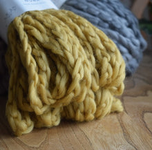 Load image into Gallery viewer, Knit-One-Kits-knitted-snood-kit-Katia-Nube-56-mustard