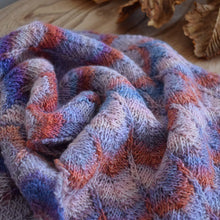 Load image into Gallery viewer, Multi coloured hand knitted merino scarf