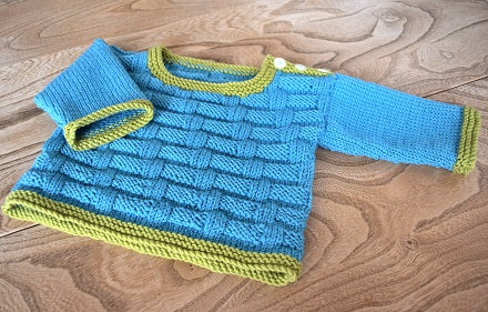 Mason Sweater (sizes premature - 2 years) - knitting kit
