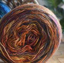 Load image into Gallery viewer, knit one kits wave stitch detail scarf knitting kit orange 11