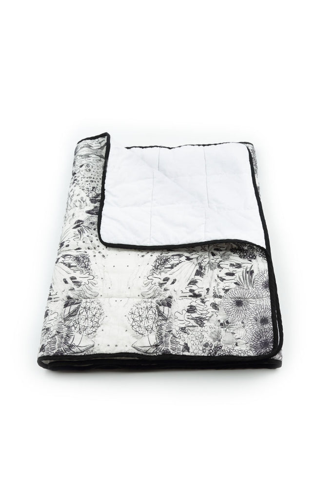 Padded Linen Blanket - Jungle Print