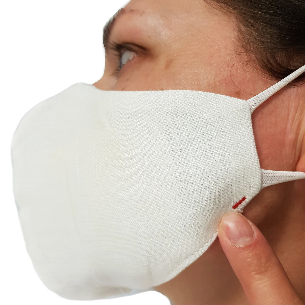 Reusable White Protective Masks 10 Pcs