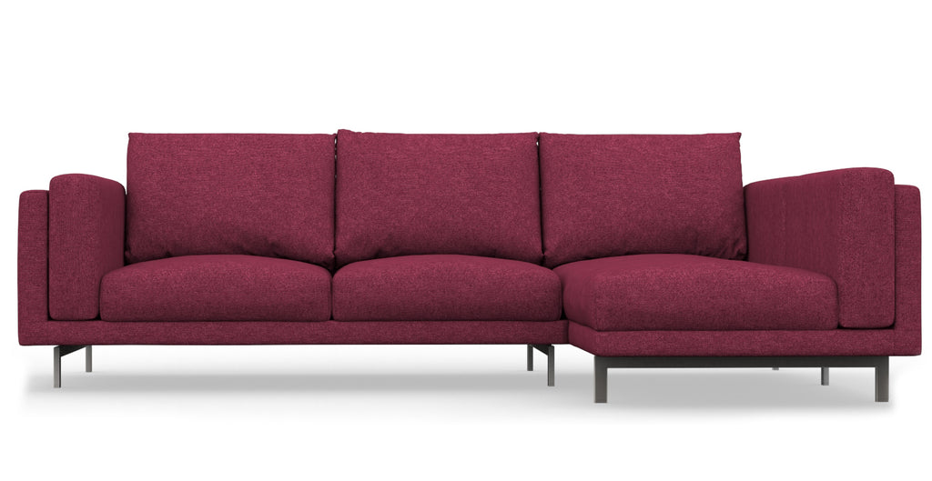 NOCKEBY 2 Seat IKEA Sofa With Chaise Longue Right Cover