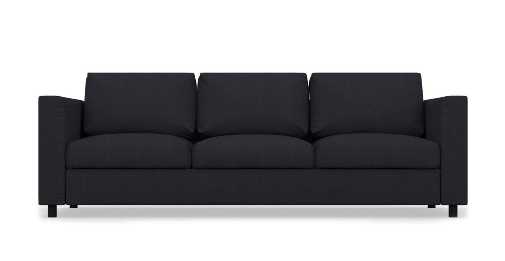 VIMLE 3 Seat IKEA Sofa Cover - Linen Blends Black