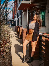 Load image into Gallery viewer, GREAT EXPECTATIONS LEATHER WRAP SKIRT