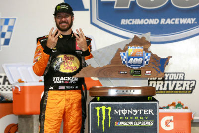 Truex leads JGR 1-2-3 sweep with playoff win at Richmond