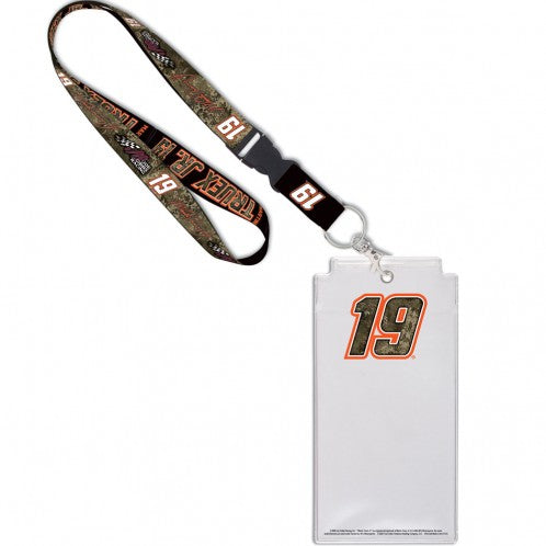 #19 Martin Truex Jr. Camo Credential Holder with Lanyard