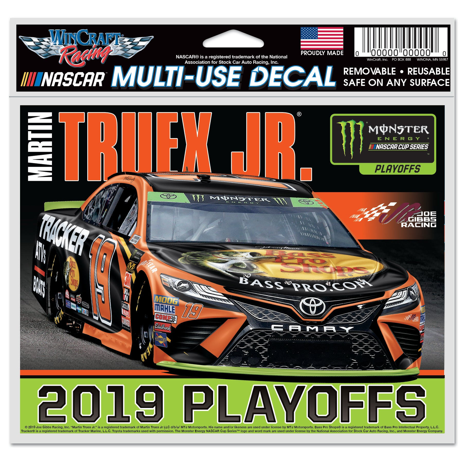 Martin Truex  Jr. MENCS Play Off Multiuse Decal - martin-truex-jr-retail-store