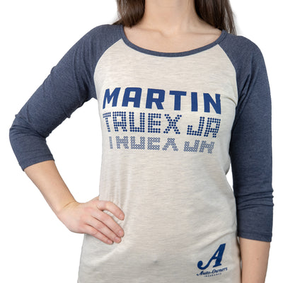 Martin Truex Jr. Auto-Owners Insurance Ladies Two Tone Long Sleeve Tee