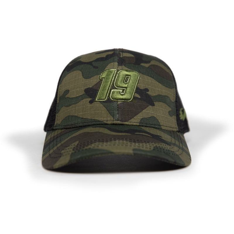 #19 Martin Truex Jr. Camo Trucker Hat (Autographed Option Available)