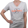 "#19 Ladies Martin Truex Jr. Ladies Platinum ""Relentless"" V-Neck Tee - Martin Truex Jr. Retail Store"